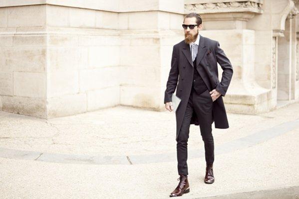 Moda uliczna Paris Fashion Week jesień zima 2013/14 - Justin O'shea