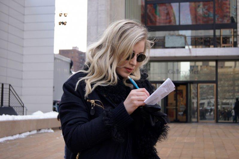 1. New York Fashion Week jesień zima 2014 - moda uliczna część 2.