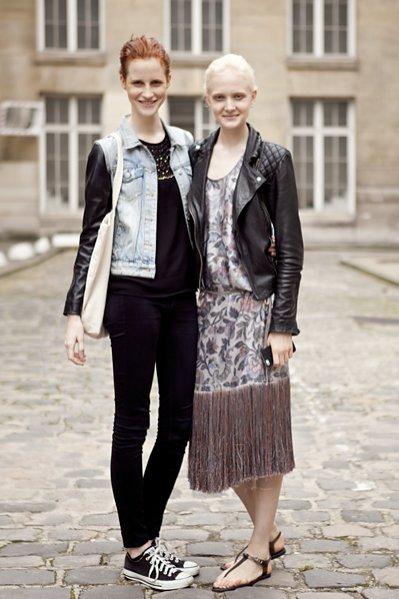 moda uliczna Paris Fashion Week wiosna lato 2014 cz.2 - Magda Jasek i Maja Salamon