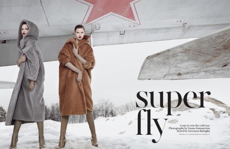 1. Moscow- Lindsey Wixson i Ashleigh Good dla W Magazine, listopad 2013
