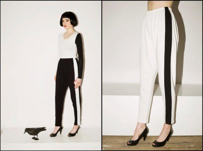 Sportowe spodnie w lampasy marki Mozcau