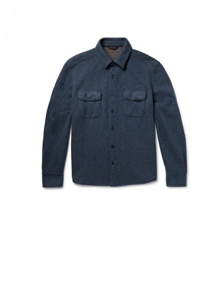 1. LORO PIANA, Knitted cashmere-blend shirt jacket, cena ok. 8700 zł