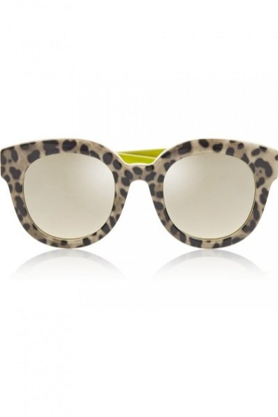 DOLCE & GABBANA, Leopard-print cat eye acetate mirrored sunglasses, cena ok. 800zł