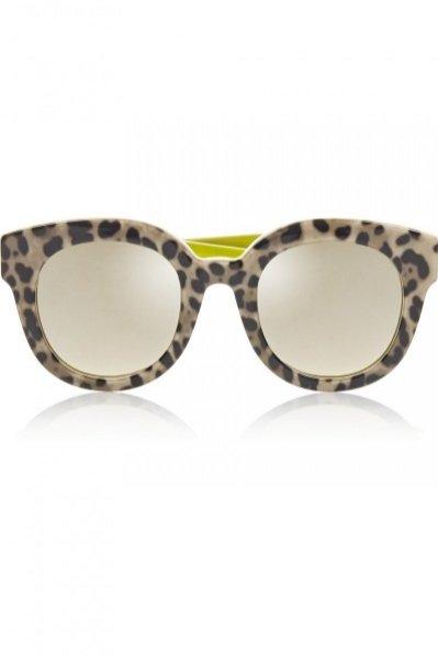 DOLCE & GABBANA, Leopard-print cat eye acetate mirrored sunglasses, cena ok. 800zł