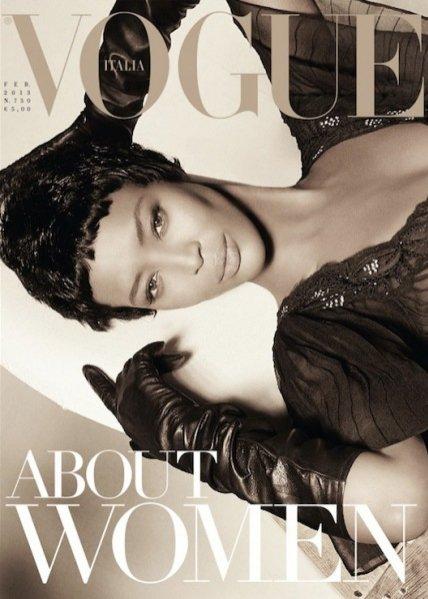 Naomi Campbell na okładce Vogue Italia