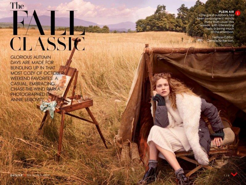 1. Natalia Vodianova w sesji dla październikowego Vogue US
