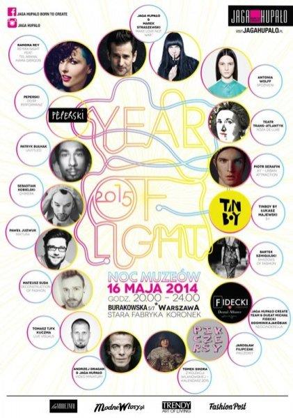 1. YEAR OF LIGHT 2015 - NOC MUZEÓW W PRACOWNI JAGI HUPAŁO