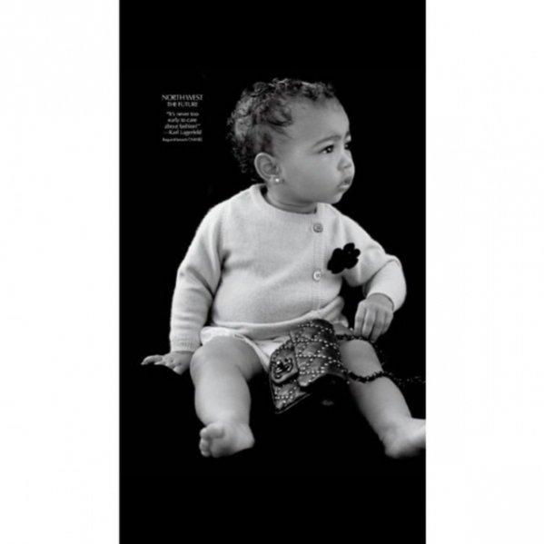 Córka Kim Kardashian i Kanye Westa - North West