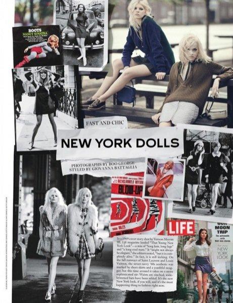 """1. Ola Rudnicka i Esmeralda Seay-Reynolds w edytorialu """"New York Dolls"""" dla wrześniowego wydania W Magazine"""