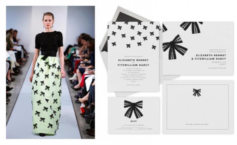 Oscar de la Renta x Paperless Post - papeteria inspirowana kolekcjami projektanta