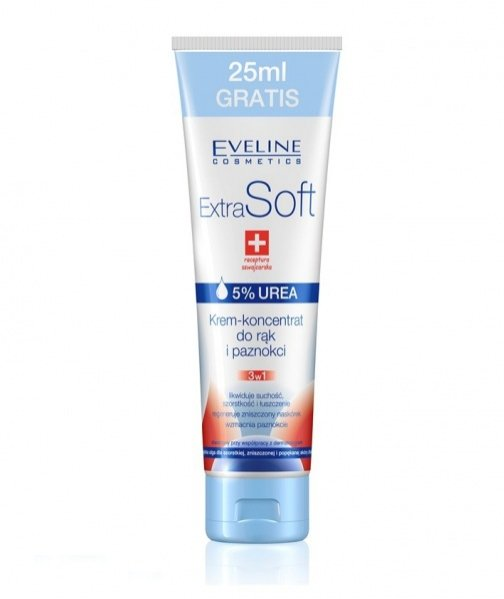 krem-koncentrat do rąk i paznokci Extra Soft od Eveline Cosmetics - 75 ml + 25 ml 5,40 PLN