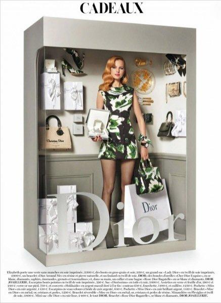 """1. Elisabeth Erm jako Barbie - Dior w sesji """"Panoplies"""" dla Vogue Paris grudzień- styczeń 2015"""