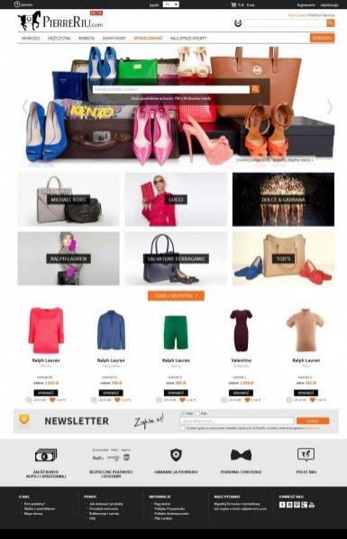 1. PierreRiu.com - nowa platforma internetowa z luksusową modą