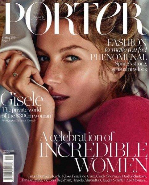 Gisele Bundchen na okładce pierwszego numeru magazynu Porter