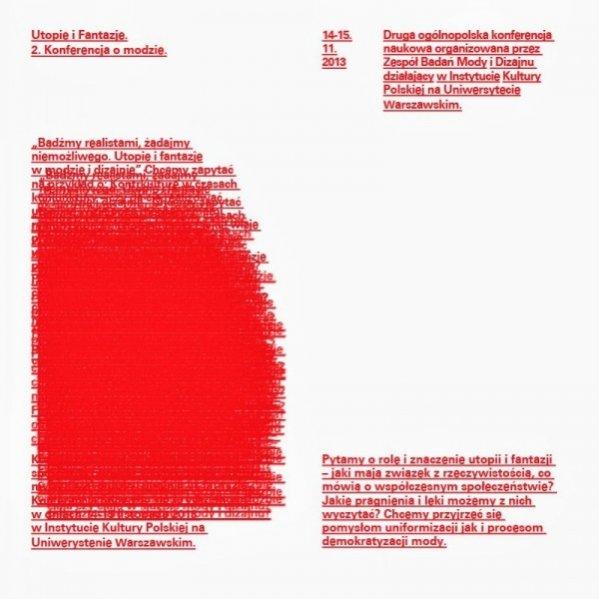 Plakat konferencji naukowej Zespołu Badań Mody i Designu IKP UW