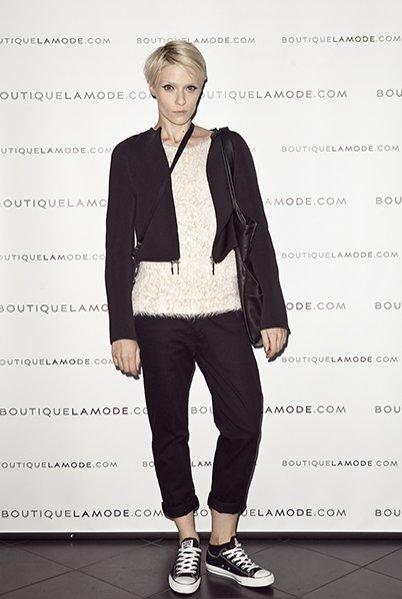 Magda Samborska autorka bloga Rebel Look na prezentacji limitowanych kolekcji polskich projektantów dla BoutiqueLaMode.com