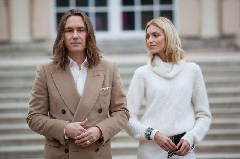 1. Anja Rubik i Tomasz Ossoliński na planie Project Runway