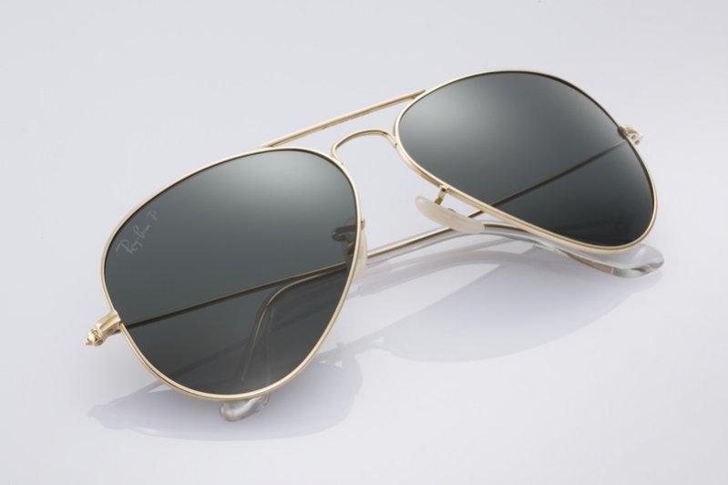 1. Ray-Ban Aviator Solid Gold - limitowana edycja okularów przeciwsłonecznych z 18-karatowego złota