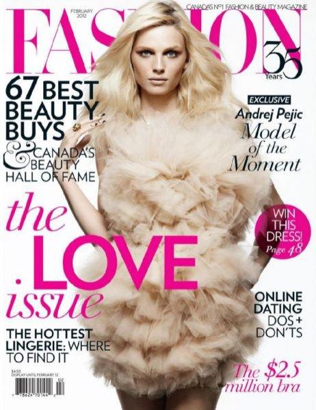 Andrej Peijc w Fashion Magazine Canada