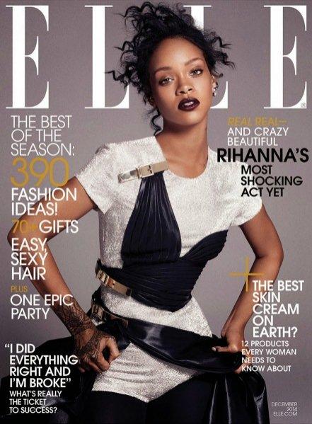 1. Rihanna w sesji dla Elle US - grudzień 2014