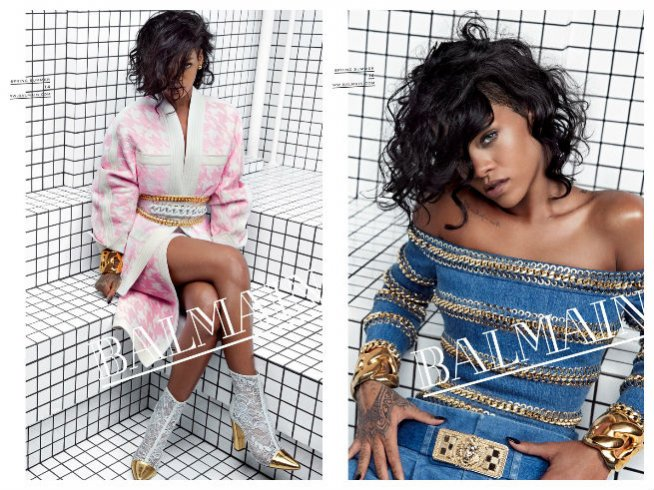 Rihanna w kampanii Balmain wiosna lato 2014