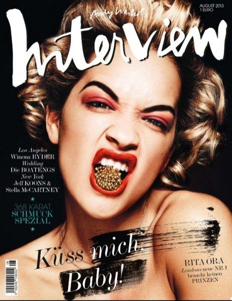 Rita Ora w okładkowej sesji dla Interview Germany lipiec/sierpień 2013