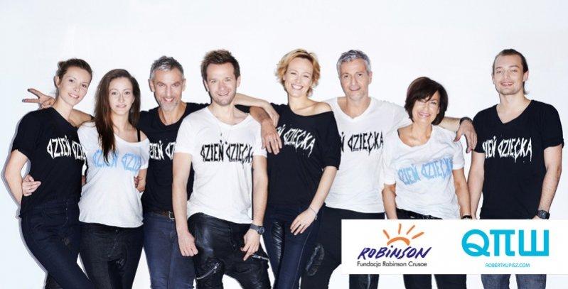 Robert Kupisz wraz z zespołem promują kolekcję koszulek Dzień Dziecka