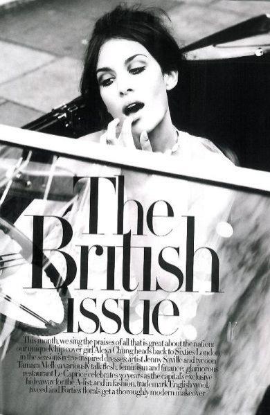 Alexa Chung w sesji dla Harper's Bazaar UK
