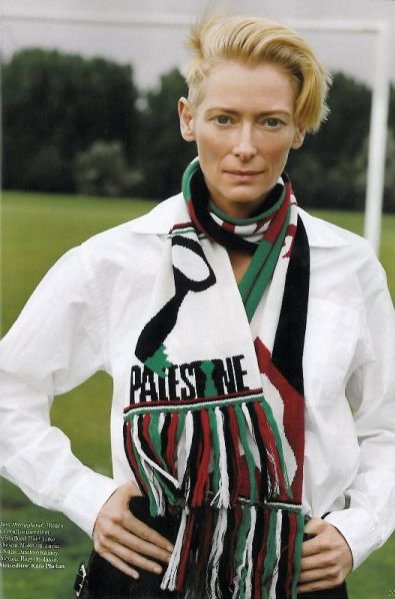Tilda Swinton w sesji Pale FIre dla Vogue UK