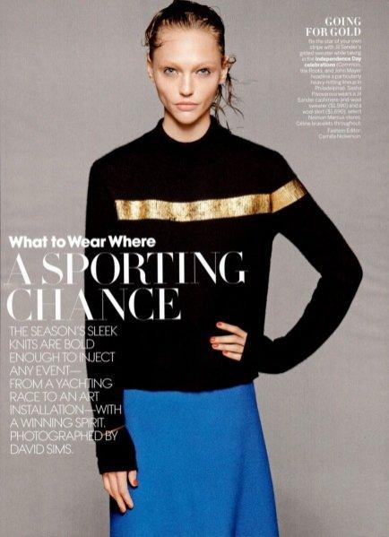Sasha Pivovarova w sesji dla Vogue US
