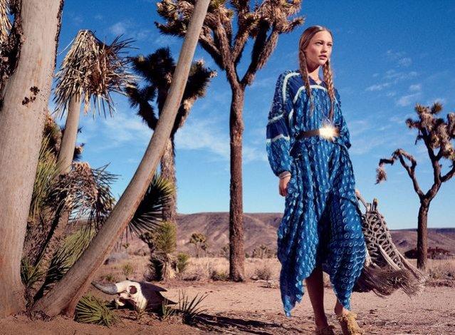 1. Sasha Pivovarova w sesji dla Vogue US - luty 2014