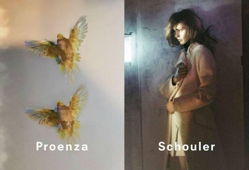 Sasha Pivovarova w kampanii Proenza Schouler jesień zima 2013/14