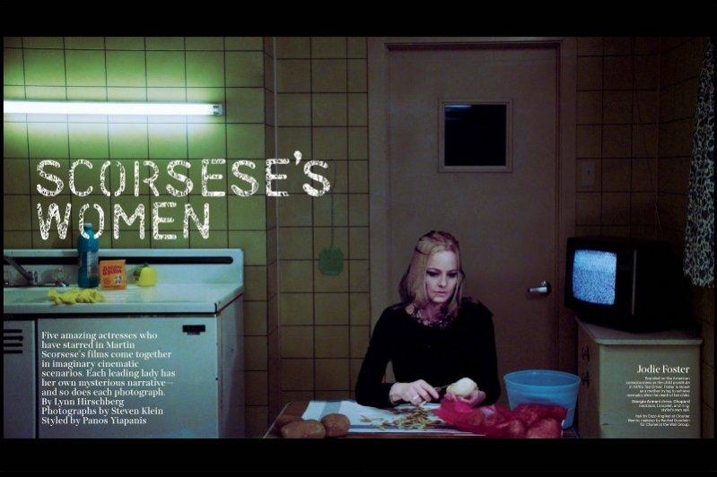 """1. """"Scorsese's Women"""" – Jodie Foster we wrześniowej sesji W Magazine"""
