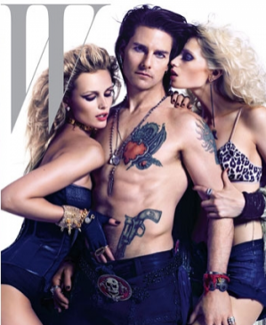 Tom Cruise, Abbey Lee Kershaw i Editta Vilkeviciute na okładce W magazine