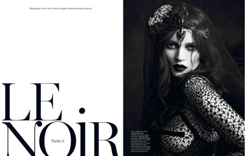 """edytorial """"Le Noir. Partie 3""""  w Vogue Paris"""