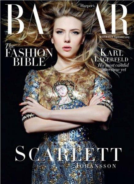 Scarlett Johansson na okładce wrześniowego Harper's Bazaar Australia