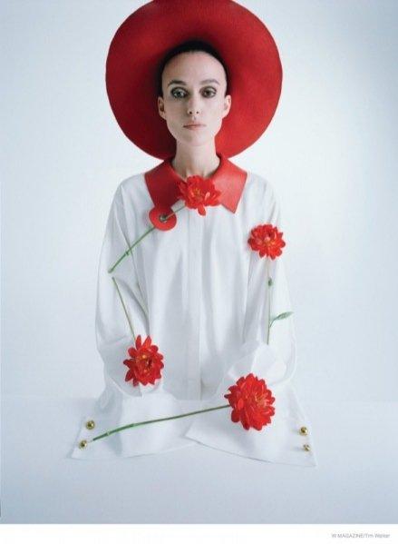 1. Keira Knightley - sesja zdjęciowa autorstwa Tima Walkera dla W Magazine luty 2015