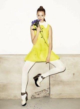 Monica Jac Jagaciak w kampanii Simple na sezon jesień zima 2012/13