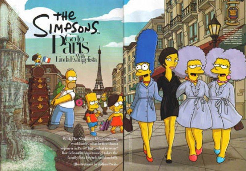 Simpsonowie w sesji dla Harper's Bazaar