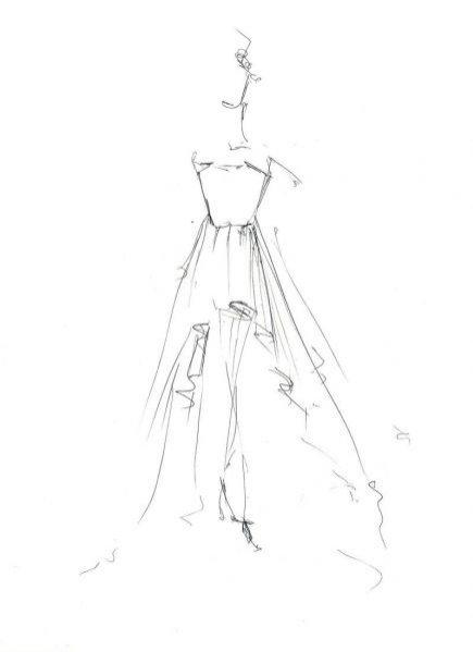 projekt sukni ślubnej Pauliny Sykut autorstwa duetu Bohoboco