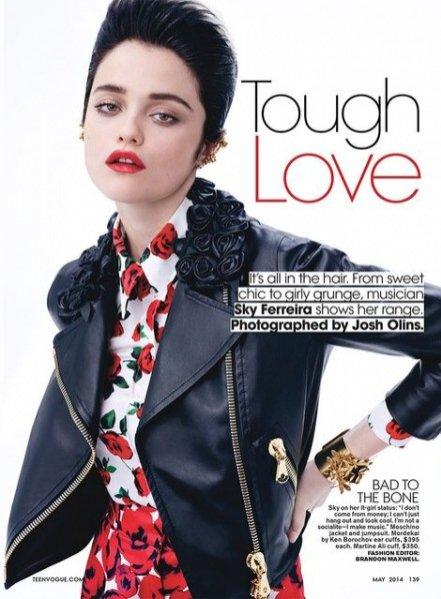 1. Sky Ferreira w majowym Teen Vogue