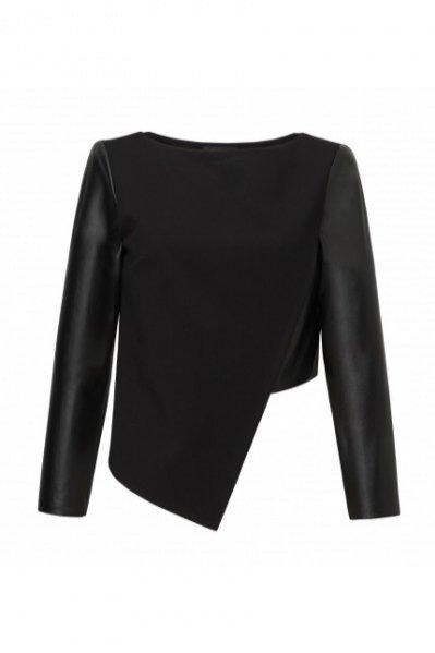 1. Asymetryczna bluzka z długim rękawem, ZAQUAD, boutiqueLaMode.com, cena: 245 zł