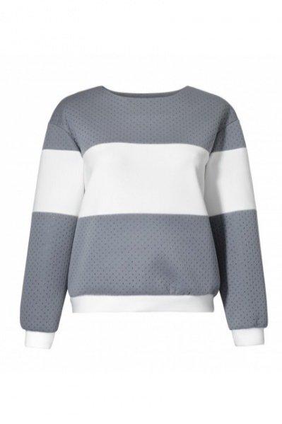 1. Bluza z piankowej dzianiny, ZAQUAD, boutiqueLaMode.com, cena: 350 zł
