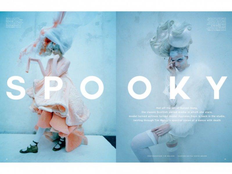 """1. Agyness Deyn w edytorialu """"Spooky"""" autorstwa Tima Walkera dla wiosenno- letniego wydania Love Magazine"""