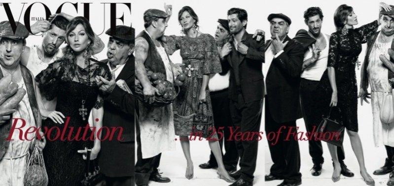Franca Sozzani świętuje 25 lat w Vogue Italia - jubileuszowe okładki z Gisele Bundchen