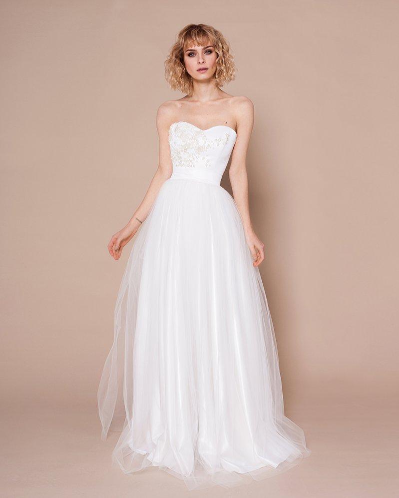 Suknia ślubna z tiulową spódnicą Szyjemy Sukienki
