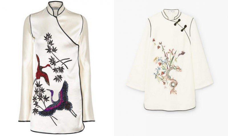 Sukienka Attico (ok. 7 000 pln), sukienka Mango (199 pln)