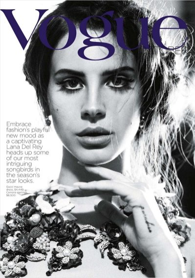 Lana Del Rey w Vogue Australia październik 2012