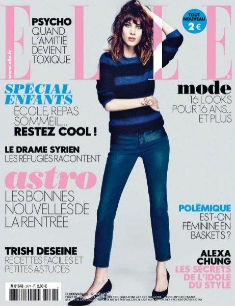 Alexa Chung na okładce Elle France