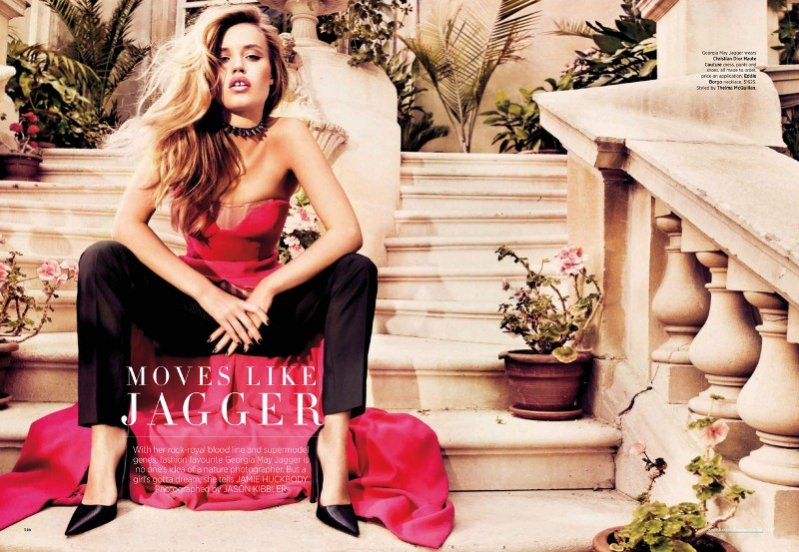 Georgia May Jagger w sesji dla Harper's Bazaar Australia